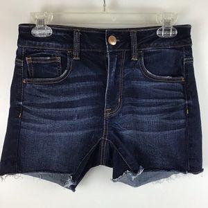 AMERICAN EAGLE Hi-Rise Shortie Cutoff Denim Shorts
